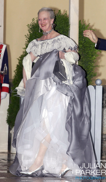 Queen Margrethe II of Denmark attends a Gala Dinner at the El Pardo Royal Palace in Madrid..Picture: UK Press