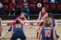 STANFORD, CA - March 3, 2018: Eric Beatty, Leo Henken at Maples Pavilion. The Stanford Cardinal lost to Pepperdine, 3-0.