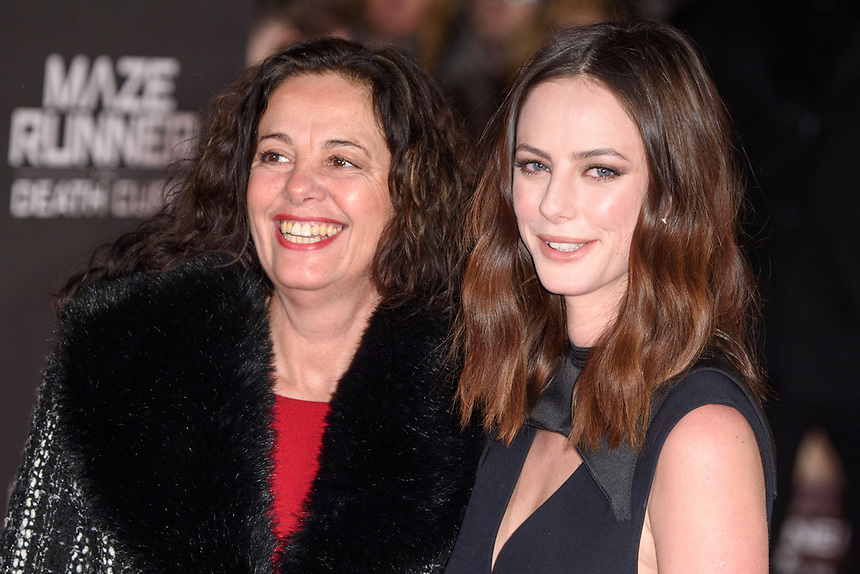 "Kaya Scodelario and mum, Katia<br /> arriving for the ""Maze Runner: The Death Cure"" Fan Screening at the Vue West End, Leicester Square, London<br /> <br /> <br /> ©Ash Knotek  D3370  22/01/2018"
