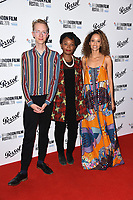 Charlie Lyne, Rungano Nyoni and Gloria Huwiler<br /> arriving for the London Film Festival Awards, Vue Leicester Square, London<br /> <br /> ©Ash Knotek  D3452  20/10/2018