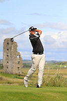 Alan Lowry (Esker Hills) on the 13th tee during Round 2 of The South of Ireland in Lahinch Golf Club on Sunday 27th July 2014.<br /> Picture:  Thos Caffrey / www.golffile.ie