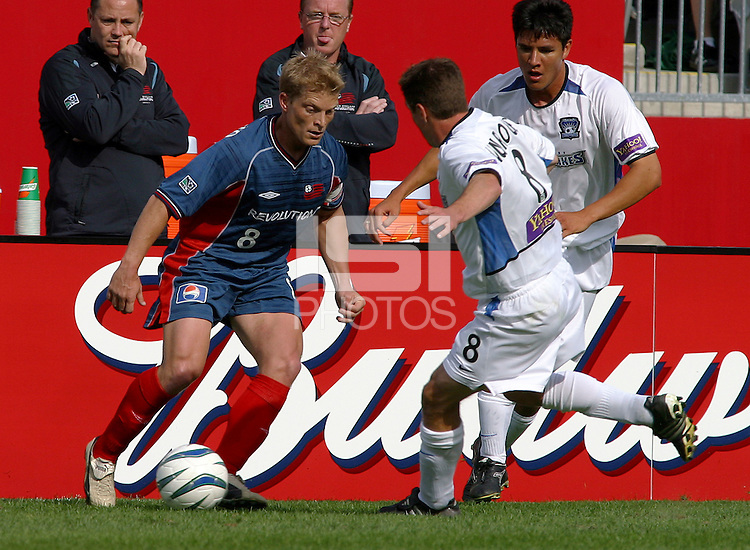 New England's Joe Franchino, San Jose vs. New England, Foxboro, Ma, May 3, 2003. San Jose won 2-0.