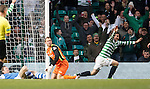 Tony Watt celebrates his goal for Celtic