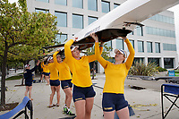 Redwood Shores, CA - April 2, 2017:  Cal Women's Crew competes in the 2017 Pac-12 Challenge.