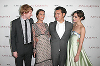 HOLLYWOOD, CA - NOVEMBER 14: Domhnall Gleeson, Alicia Vikander, Joe Wright and Keira Knightley at the premiere of Focus Features' 'Anna Karenina' held at ArcLight Cinemas on November 14, 2012 in Hollywood, California. Credit: mpi28/MediaPunch Inc. /NortePhoto