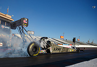 Jan 31, 2018; Chandler, AZ, USA; NHRA top fuel driver Tony Schumacher during Nitro Spring Training Testing at Wild Horse Pass Motorsports Park. Mandatory Credit: Mark J. Rebilas-USA TODAY Sports