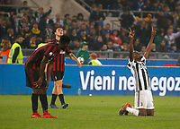 Blaise Matuidi of Juventus celebrates at the end the  Coppa Italia ( Tim Cup) final soccer match,  Ac Milan  - Juventus Fc       at  the Stadio Olimpico in Rome  Italy , 09 May 2018