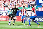 Atletico de Madrid's player Nico Gaitán and Saúl Ñígez and Sporting de Gijon's Duje Cop during a match of La Liga Santander at Vicente Calderon Stadium in Madrid. September 17, Spain. 2016. (ALTERPHOTOS/BorjaB.Hojas)