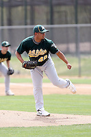 Carlos Hernandez, Oakland Athletics 2010 minor league spring training..Photo by:  Bill Mitchell/Four Seam Images.