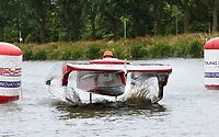 Nederland Purmerend -  22 juni  2018  Solar Boat Race. Het onderdeel: Topspeed Solar Sport One. Ondanks de zware bewolking werd door enkele boten toch een hoge snelheid behaald.  Foto Berlinda van Dam Hollandse Hioogte