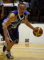 Randall Bishop in action during the NBL Basketball match between Wellington Saints and Otago Nuggets at TSB Bank Arena, Wellington, New Zealand on Sunday, 30 March 2008. Photo: Dave Lintott / lintottphoto.co.nz