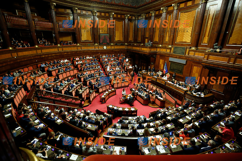 General View <br /> Rome August 13th 2019. Senate. Vote to allow  ore deny the Motion of no confidence to the Italian Government proposed by the Lega Nord party. <br /> Foto Samantha Zucchi Insidefoto