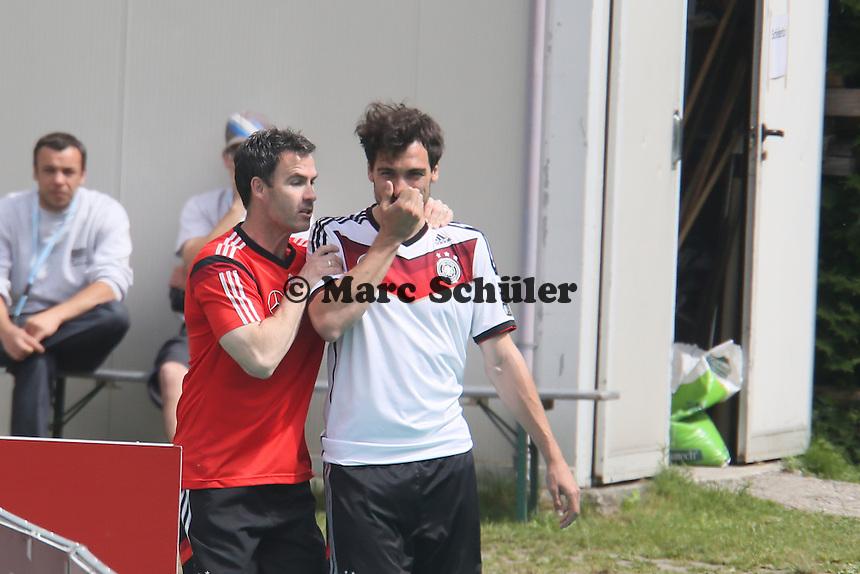 Mats Hummels - Abschlusstraining der Deutschen Nationalmannschaft gegen die U20 im Rahmen der WM-Vorbereitung in St. Martin