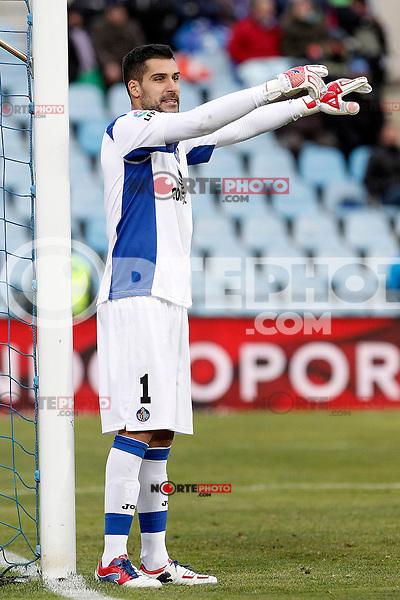 Getafe's Miguel Angel Moya during La Liga match.December 15,2012. (ALTERPHOTOS/Acero) /NortePhoto