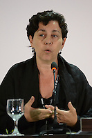 RIO DE JANEIRO-22/06/2012-Tereza Campello, Ministra do Desenvolvimento Social em Coletiva de Imprensa, no RIO20, no Rio Centro, Barra da Tijuca, zona oeste do rio.Foto:Marcelo Fonseca-Brazil Photo Press