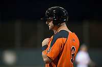 AZL Giants Orange designated hitter Joey Bart (9) during an Arizona League game against the AZL Athletics at Lew Wolff Training Complex on June 25, 2018 in Mesa, Arizona. AZL Giants Orange defeated the AZL Athletics 7-5. (Zachary Lucy/Four Seam Images)