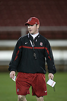 """9 February 2007: Shannon Turley during a """"Friday Night Lights"""" practice at Stanford Stadium in Stanford, CA."""