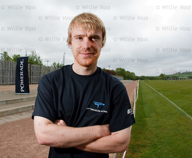 Steven Smith at Murray Park promoting the Powerade Soccer Sevens