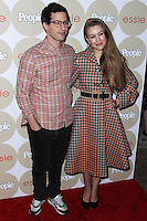 "LOS ANGELES, CA - OCTOBER 09: Actor Andy Samberg and wife Joanna Newsom arrive at People's ""ONES To Watch"" Party held at Hinoki & The Bird on October 9, 2013 in Los Angeles, California. (Photo by Xavier Collin/Celebrity Monitor)"
