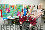 "Knockanes NS, Killarney with their project ""The Rainforest"". Front l-r  Abbie Marie Cronin, Jamie Moynihan, Elisha O'Donoghue, Mairead Docherty, Teacher, Aileen Docherty, SNA, Marie Cronin, Teacher and Eilen Shawcross, Artist. at the CRAFTed Project 2016 in conjunction with Craft Council of Ireland launch their showcase in The Education Centre on Thursday"