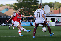 Beth Mead of Arsenal scores the first goal for her team during Arsenal Women vs West Ham United Women, Barclays FA Women's Super League Football at Meadow Park on 8th September 2019