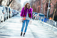 Chiara Ferragni attends Day 4 of New York Fashion Week on Feb 15, 2015 (Photo by Hunter Abrams/Guest of a Guest)