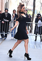 NEW YORK, NY - APRIL 9: Tyra Banks seen after an appearance on ABC's The View in New York City April 9, 2018. <br /> CAP/MPI/RW<br /> &copy;RW/MPI/Capital Pictures