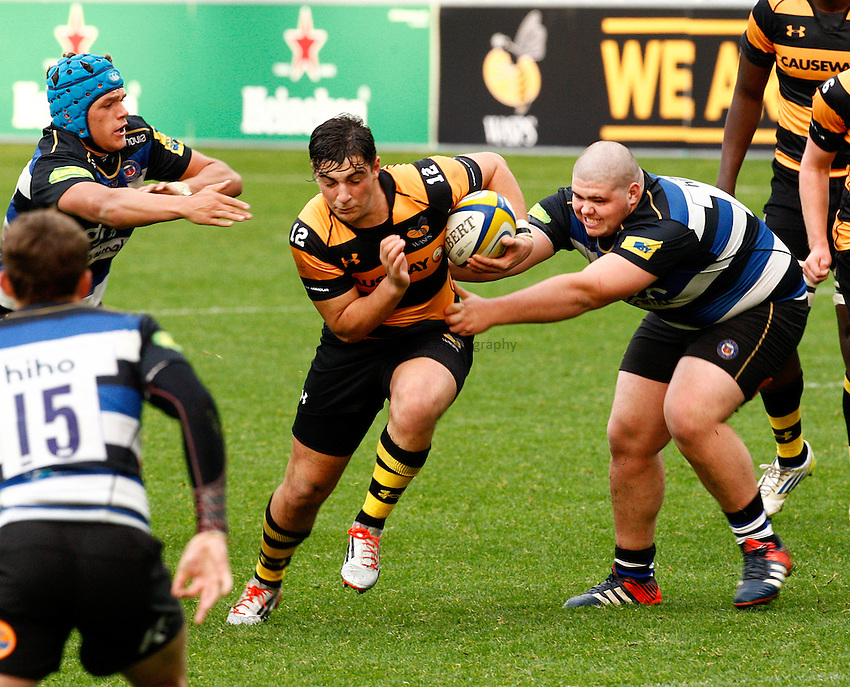Photo: Richard Lane/Richard Lane Photography. Wasps U18 v Bath Rugby U18. Aviva Premiership. 24/10/2015.