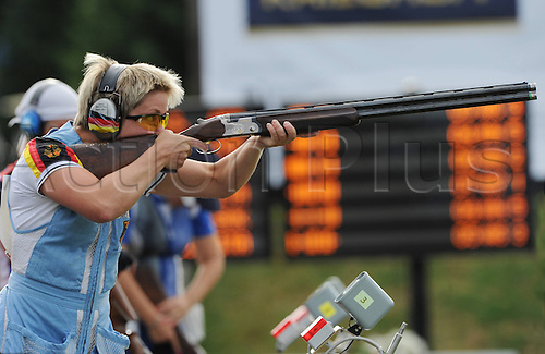 31.07.2013. Suhl, Germany.  European Championship ongoing trap shooting  Sonja Scheibl ger