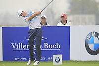 Ross Fisher (ENG) tees off the 15th tee during Friday's Round 2 of the 2014 BMW Masters held at Lake Malaren, Shanghai, China 31st October 2014.<br /> Picture: Eoin Clarke www.golffile.ie