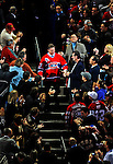 22 November 2008: Former Montreal Canadien goaltender Patrick Roy enters the arena bowl at the Bell Centre in Montreal, Quebec, Canada. The Canadiens, celebrating their 100th season, honored Roy by retiring his jersey number in an emotional pre-game event.  ****Editorial Use Only****..Mandatory Photo Credit: Ed Wolfstein Photo *** Editorial Sales through Icon Sports Media *** www.iconsportsmedia.com