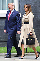 US President Donald Trump and First Lady Melania Trump outside No 10 Downing Street on the second day of the State Visit to the UK. June 4th 2019<br /> CAP/ROS<br /> ©ROS/Capital Pictures