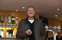 Murray Mexted (Former New Zealand All Blacks Player) talks during pre match hospitality during the Greene King IPA Championship match between London Scottish Football Club and Jersey at Richmond Athletic Ground, Richmond, United Kingdom on 7 November 2015. Photo by Andy Rowland.
