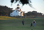 Point Pinos Lighthouse and golfers at Pacific Grove Golf Links
