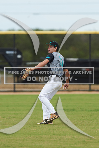 Jack Cue (11) of Southwest Ranches, Florida during the Baseball Factory All-America Pre-Season Rookie Tournament, powered by Under Armour, on January 13, 2018 at Lake Myrtle Sports Complex in Auburndale, Florida.  (Michael Johnson/Four Seam Images)