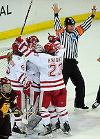 Wisconsin women's hockey team tops Minnesota-Duluth 2-1 on Saturday, 3/12/11, at the Kohl Center in Madison, Wisconsin