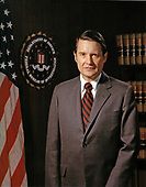 Official portrait of William H. Webster who was appointed to the Director of the Federal Bureau of Investigation (FBI) by United States President Jimmy Carter and served in that capacity from February 23, 1978 through May 25, 1987 and then was appointed as Director of the Central Intelligence Agency (CIA) by US President Ronald Reagan and served in that capacity from May 26, 1987 through August 31, 1991.  This portrait was taken during Webster's tenure as FBI Director.<br /> Credit: FBI via CNP