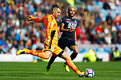 10th September 2017, Turf Moor, Burnley, England; EPL Premier League football, Burnley versus Crystal Palace; Tom Heaton of Burnley clears the ball before he was injured and forced to leave the game