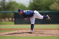 San Diego Padres pitcher Dan Dallas (37) follows through on his delivery during an Instructional League game against the Chicago White Sox on September 26, 2017 at Camelback Ranch in Glendale, Arizona. (Zachary Lucy/Four Seam Images)