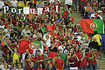 08 July 2007: Portugal fans in the stands, pregame. Gambia's Under-20 Men's National Team defeated Portugal's Under-20 Men's National Team 2-1 in a Group C opening round match at Olympix Stadium in Montreal, Quebec, Canada during the FIFA U-20 World Cup Canada 2007 tournament.
