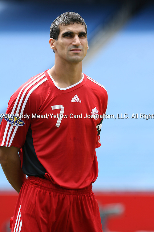 16 June 2007: Canada's Paul Stalteri. The Canada Men's National team defeated the Guatemala Men's National Team 3-0 at Gillette Stadium in Foxboro, Massachusetts in a 2007 CONCACAF Gold Cup quarterfinal.