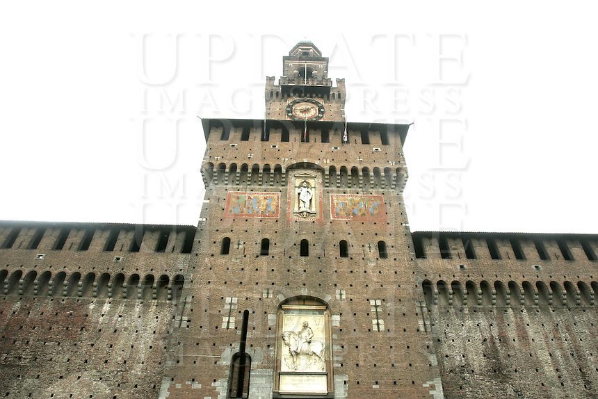Il Castello Sforzesco a Milano.<br /> The Sforza Castle in Milan.<br /> UPDATE IMAGES PRESS/Riccardo De Luca