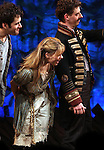 Adam Chandler-Berat, Celia Keenan-Bolger & Christian Borle.during the Broadway Opening Night Performance Curtain Call for 'Peter And The Starcatcher' at the Brooks Atkinson Theatre on 4/15/2012 in New York City.