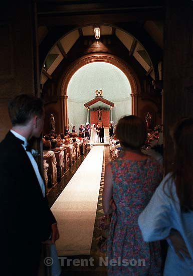 Laura Nelson watching a friend get married.<br />
