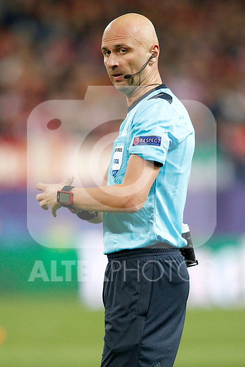 Russian referee Sergei Karasev during Champions League 2016/2017 Round of 16 2nd leg match. March 15,2017. (ALTERPHOTOS/Acero)