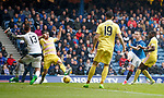 Barrie McKay lashes home to score the second goal for Rangers