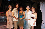 "Janine DiVita ""Penelope"", Josh A. Davis ""Odysseus"", Colleen Zenk ""Anticleia"", Eddie Korbich ""Posidon"" - Emma Zaks ""Athena"" -  Opening Night of Odyssey - The Epic Musical on October 23, 2011 at the American Theatre of Actors, New York City, New York. (Photo by Sue Coflin/Max Photos)"