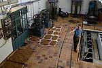 SPAIN Mallorca, Soller, farming, old olive oil press / SPANIEN Mallorca, Soller, Landwirtschaft, Tomeo von Can Det, alte Oliven Oelmuehle, Mandeln zum Trocknen