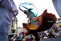 12/07/03 - THIERS - PUY DE DOME - FRANCE - Festival de musiques de rue. La PAMPARINA - Photo Jerome CHABANNE