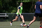 CARY, NC - APRIL 20: Abby Dahlkemper. The North Carolina Courage held a training session on April 20, 2017, at WakeMed Soccer Park Field 7 in Cary, NC.